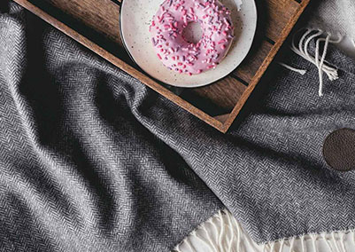 Cashmere Blanket Red Lychee Madison