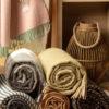 Red Lychee Merino Wool Blankets