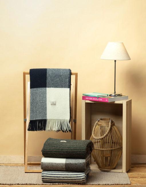 Red Lychee Avant Navy Wool Blanket